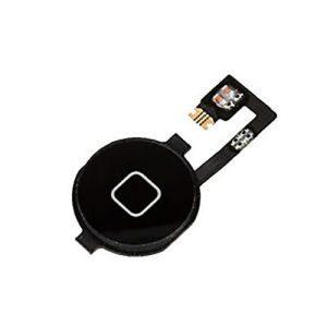 iPhone 4 Home Button + Flex Black