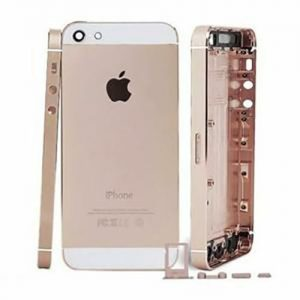 iPhone 5 Back Metal Housing - Gold/White