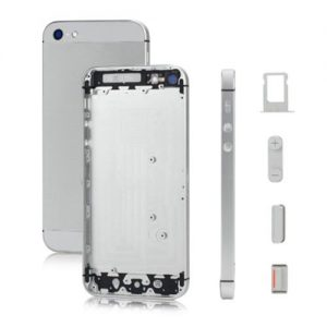 iPhone 5 Back Metal Housing - Silver/White