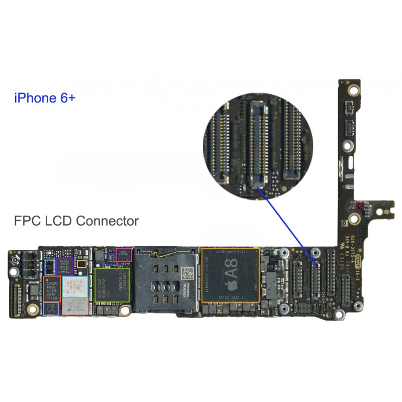 hot sale online 43988 8b829 iPhone 6 Plus LCD FPC Motherboard Connector