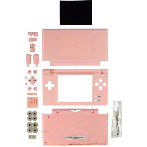 nintendo ds lite full replacement housing pink mbi tech parts. Black Bedroom Furniture Sets. Home Design Ideas