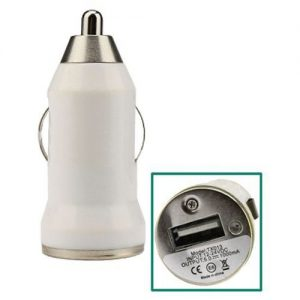 Universal USB Car Cigarette Charger White