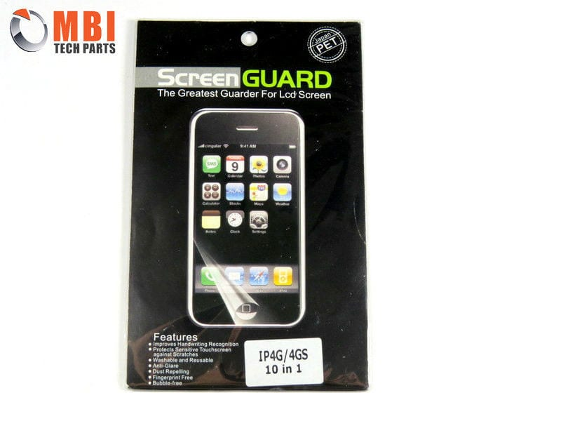 iPhone 4 Front Clear Screen Protector x 10 - MBI Tech Parts 938b4fe296