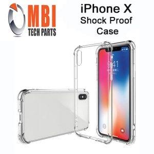 iPhone X Clear Case Anti Shock Edge Crystal Transparent Soft Gel TPU Cover W