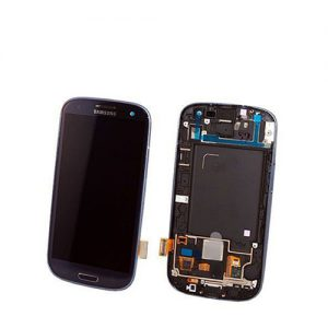 Samsung Galaxy S3 Screen Replacement LCD and Digitizer + Frame i9500 - Dark Blue