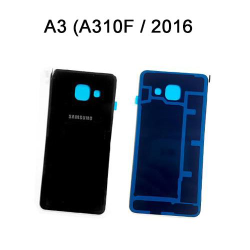 Samsung Galaxy A3 2016 Back Battery Cover Glass Replacement Black