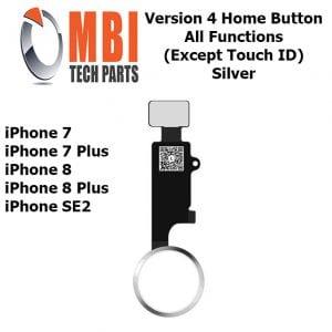 iPhone 7 7 Plus 8 8 Plus SE2 Home Button Silver