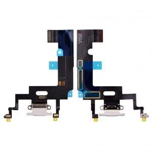 iPhone XR 6.1 Replacement Charging Port Dock Connector Flex Cable Mic White