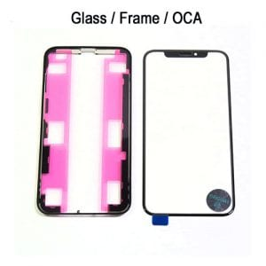 iPhone XS Replacement Front Screen 3 in 1 with Frame and OCA W