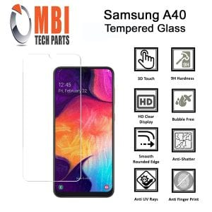 Samsung Galaxy A40 Tempered Protective Protector Glass
