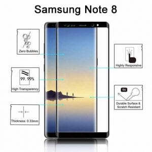 Samsung Galaxy Note 8 Tempered Protective Protector Glass W