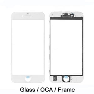 iPhone 6S 6 Plus Replacement Front Screen 3 in 1 with Frame and OCA White