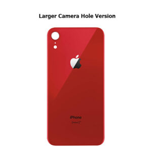 iPhone XR Back Glass Cover Back Battery Door Installed Adhesive Red